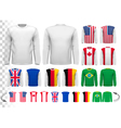 Collection of various male long sleeved shirts vector image vector image