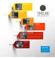 colorful vertical timeline infographic vector image vector image