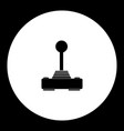 computer input joystick for game simple black vector image vector image