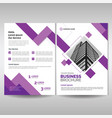 corporate brochure cover template with purple vector image vector image