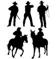 Cowboy Silhouette vector image