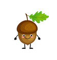 cute cartoon acorn characters vector image vector image