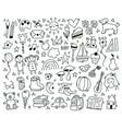 cute childish kindergarten hand drawn doodle vector image vector image