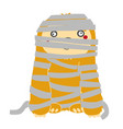 cute sloth mummy zombie for halloween in flat vector image