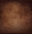 dark brown triangle mosaic background creative vector image vector image