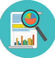 Data analysis concept Flat design Icon in vector image vector image