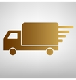 Delivery sign Flat style icon vector image vector image