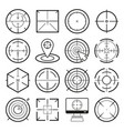 different icon set targets and destination vector image vector image