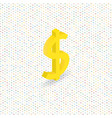 dollar sign on a digital background isometric vector image vector image