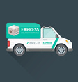 express delivery service cargo vehicle vector image vector image