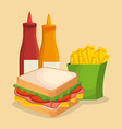 fast food restaurant menu vector image vector image