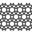 geometric seamless pattern black and white figure vector image