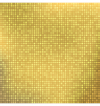 Gold abstract background with tiny squares vector image vector image