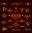 golden decorative calligraphic design elements vector image vector image
