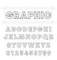 graphic alphabet font template letters vector image