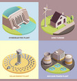 green energy isometric concept vector image vector image