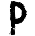 Hand written brush font type alphabet Detailed vector image vector image