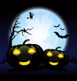 happy halloween day background vector image