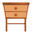 House nightstand icon cartoon style