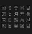 hvac simple white line icons set vector image