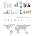 infographics elements map earth set vector image vector image