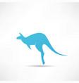 kangaroo silhouettes vector image vector image