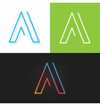 letter a logo alphabet line design icon set vector image