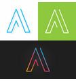 letter a logo alphabet line design icon set vector image vector image