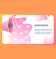 mass media website flat color template vector image vector image