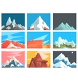 Mountain Peaks And Summits Landscape vector image
