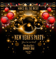 New Years Party Flyer design for nigh clubs event vector image vector image