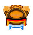 oktoberfest label with flags vector image vector image