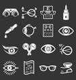 ophthalmologist icons set grey vector image vector image