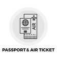 Passport and Ticket Icon
