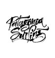 patagonia surfing modern calligraphy hand vector image vector image