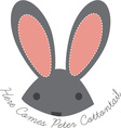 Peter Cottontail vector image vector image