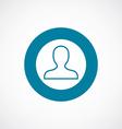 profile icon bold blue circle border vector image vector image
