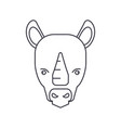 rhinoceros line icon sign on vector image vector image