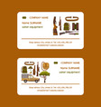 safari hunting equipment set business cards vector image vector image