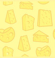 seamless background with porous cheese vector image vector image