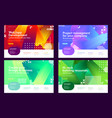 set colorful effective abstract website vector image
