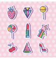 set fashion patches trendy design vector image vector image