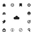 set of 13 editable internet icons includes vector image