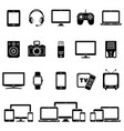 set of modern digital devices icons vector image vector image