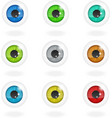 Set of multi-colored eyes vector image vector image