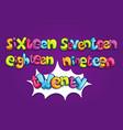 sixteen seventeen eighteen nineteen twenty vector image