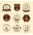 Sketch nautical emblems vector image vector image