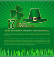 st patricks day background with space for text vector image