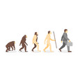 stage of human evolution from monkey to vector image vector image