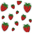 strawberry sweet fruit background vector image vector image